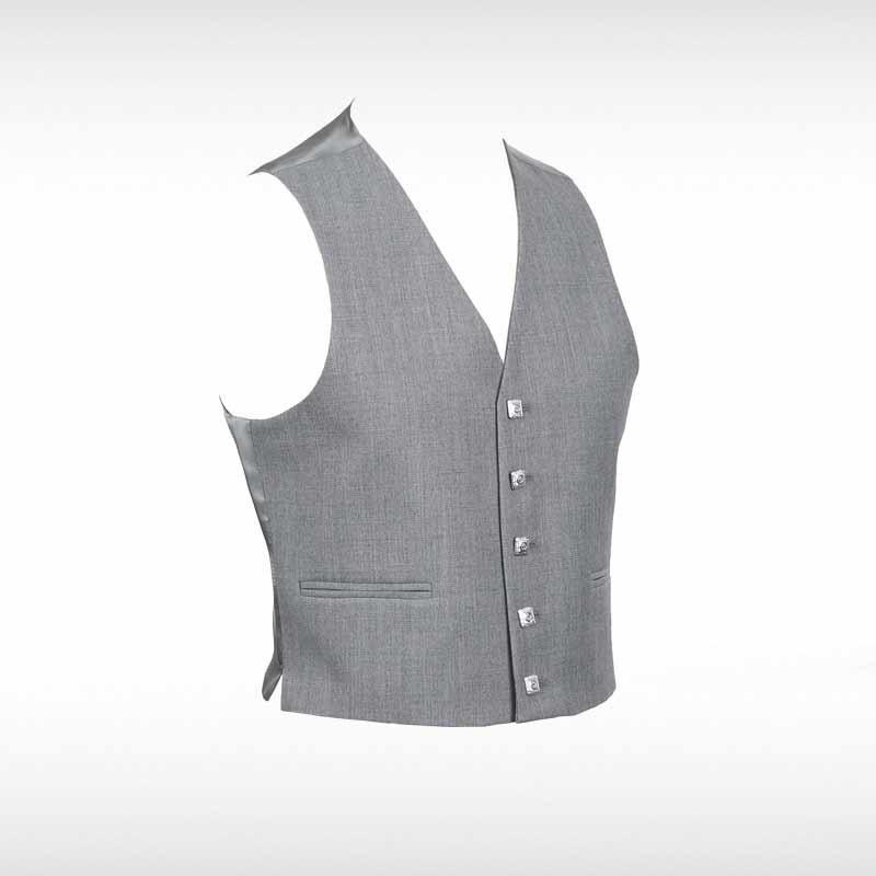 Grey Sherrifmuir Pride Jacket & Waistcoat