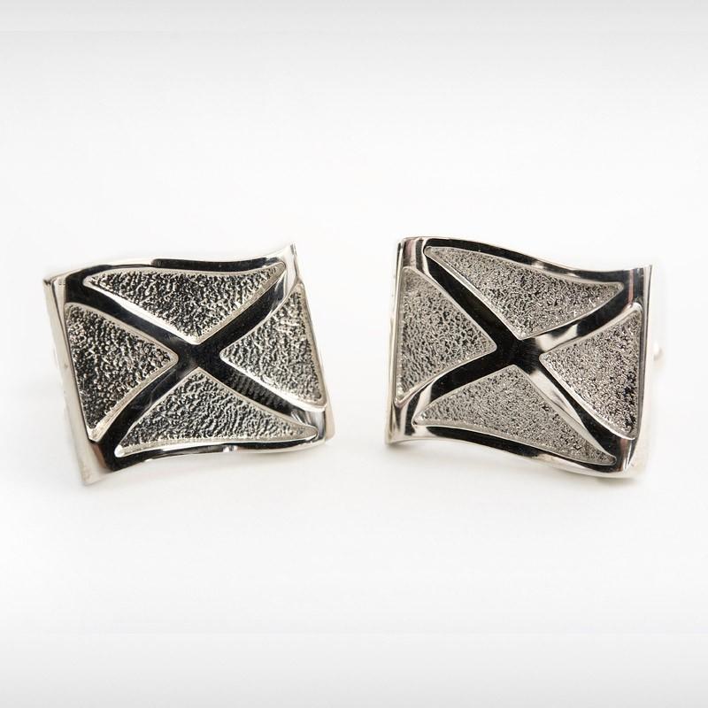 Silver Saltire Cufflinks