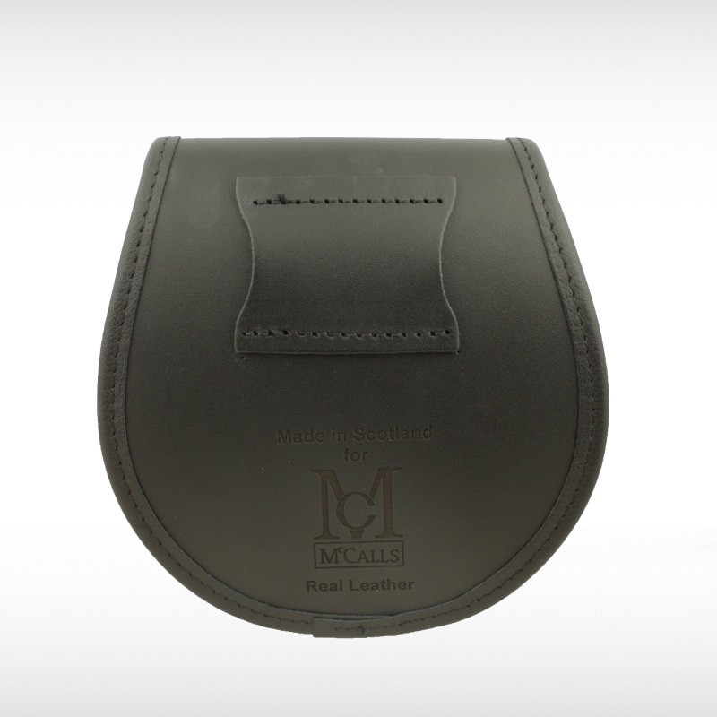 Stag Embossed Black Leather Sporran