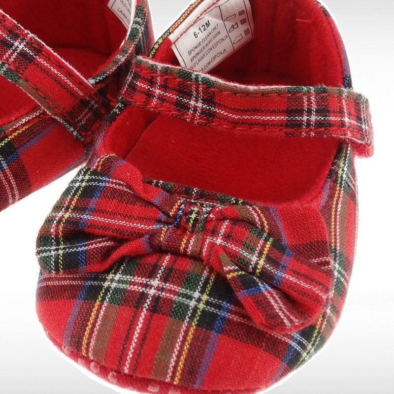 Royal Stewart Tartan Shoes With Bow
