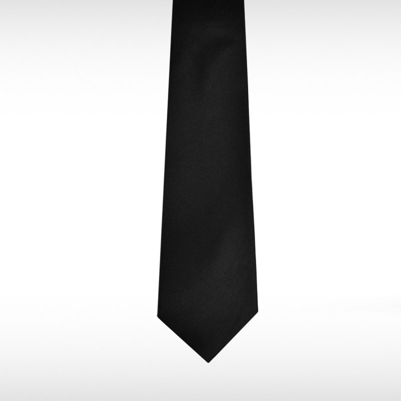 Black Straight Tie