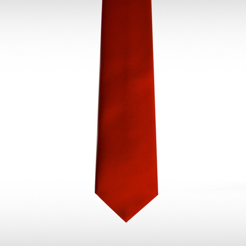 Red Straight Tie