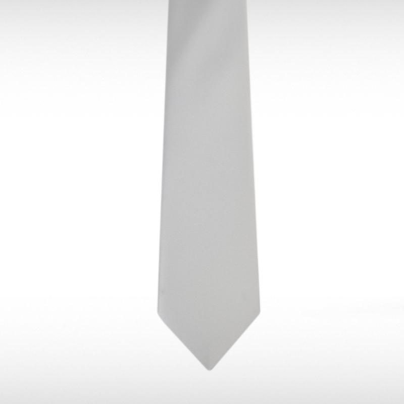 Silver Straight Tie