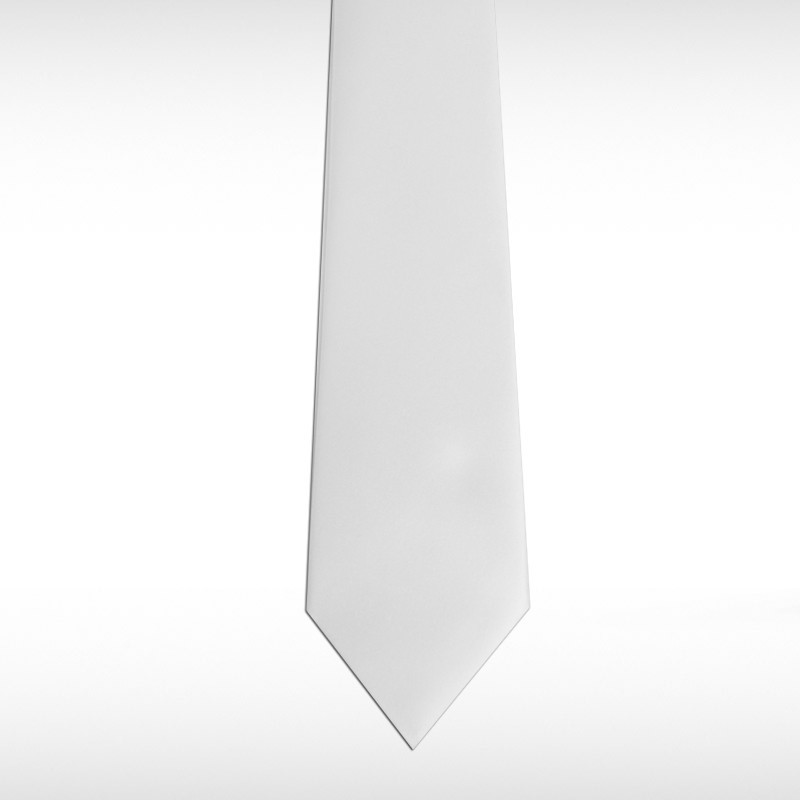 White Straight Tie