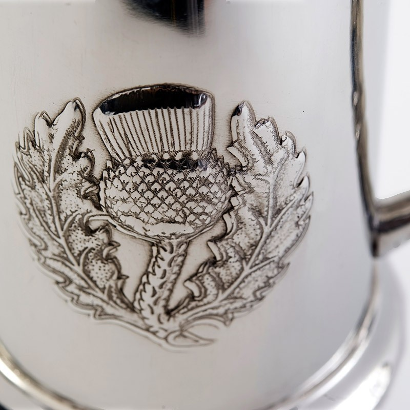 Thistle Emblem and Handle Tankard
