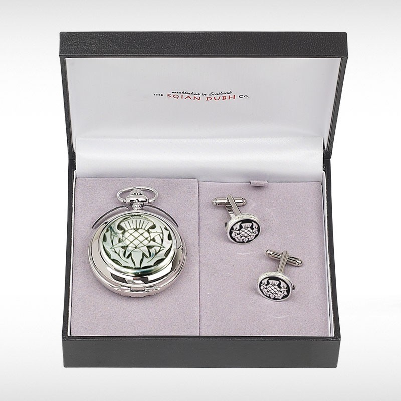 Thistle Pocket Watch Two Piece Gift Set
