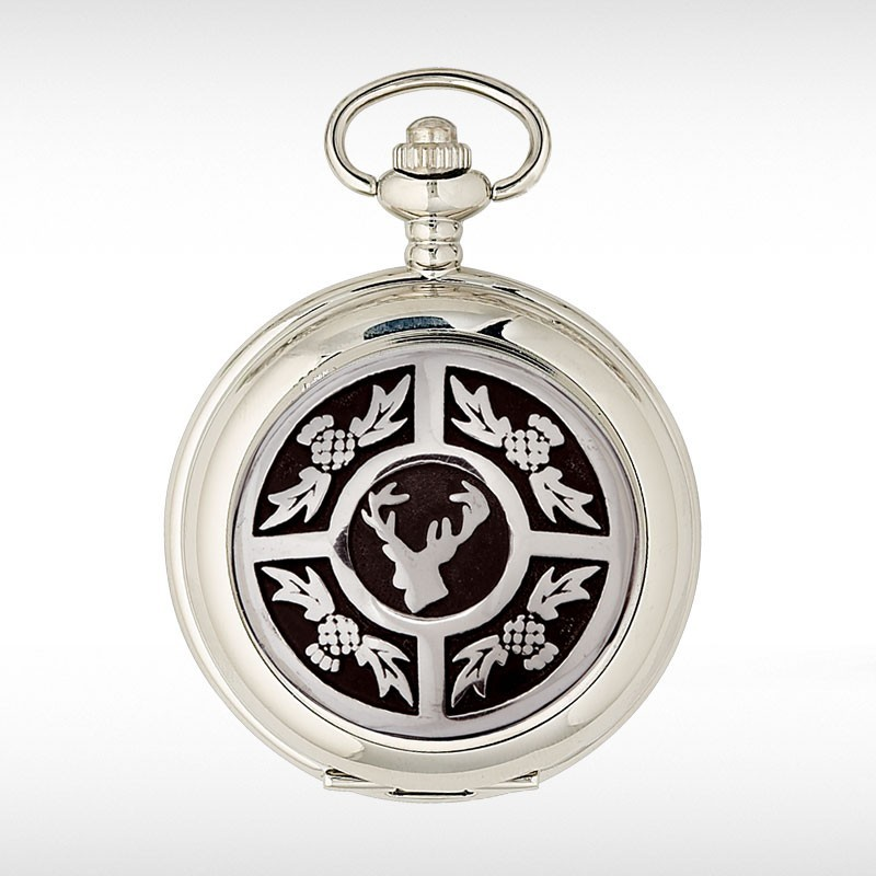 Stag and Thistle Pocket Watch