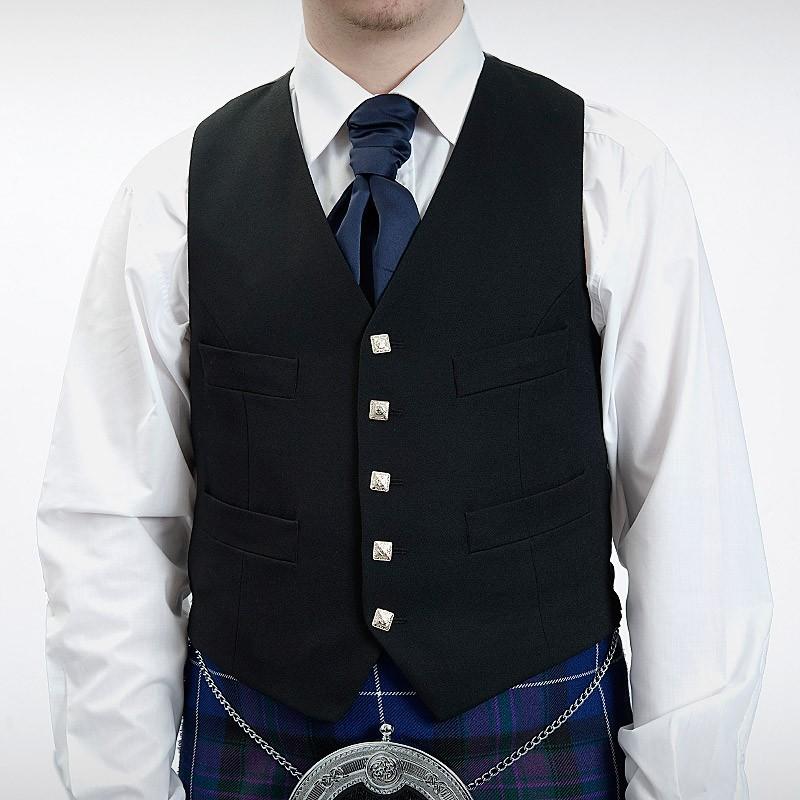 Magee Black Argyll Waistcoat