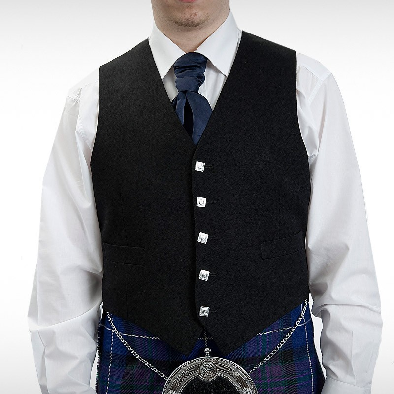 Midon Black Argyll Waistcoat