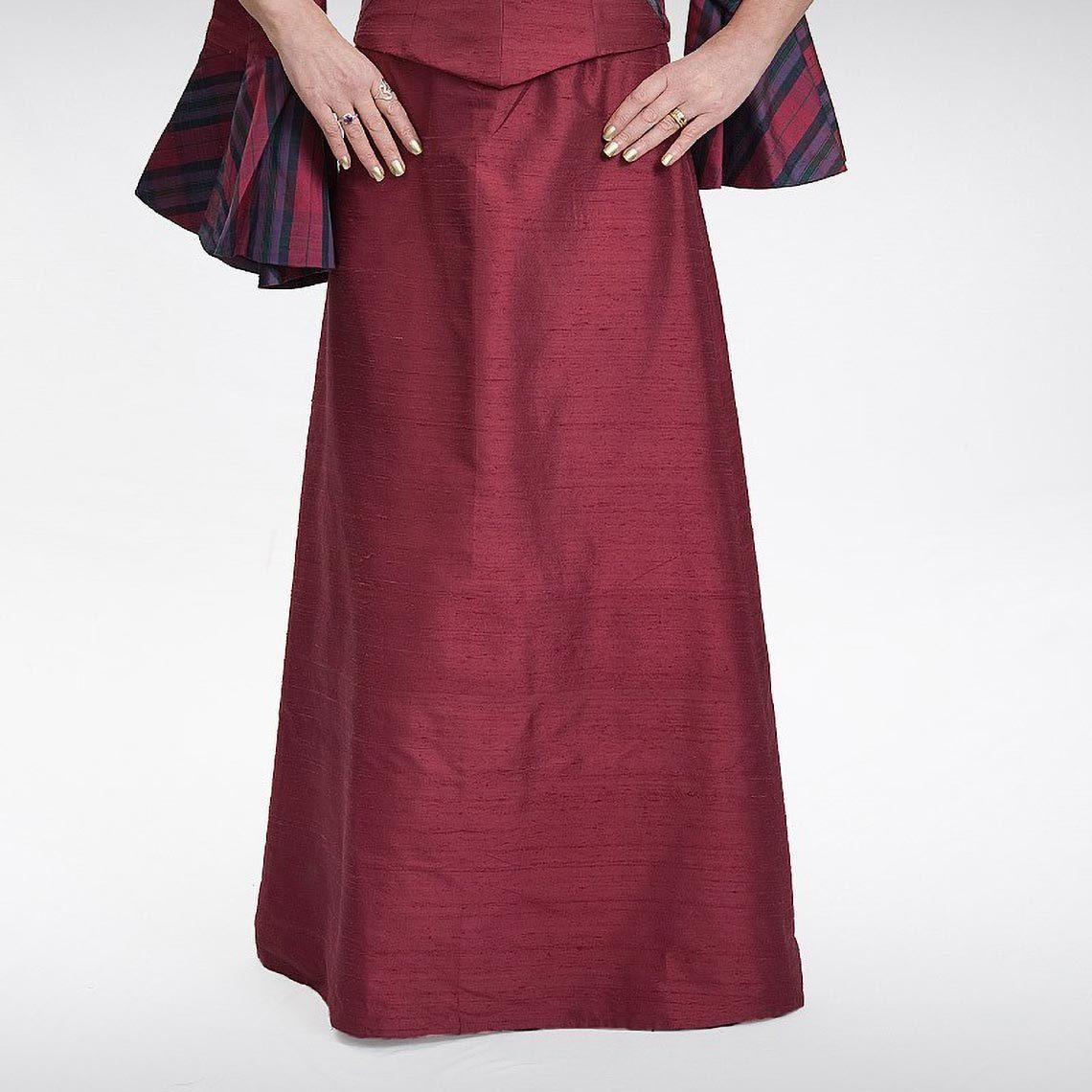 Wine A-Line Skirt
